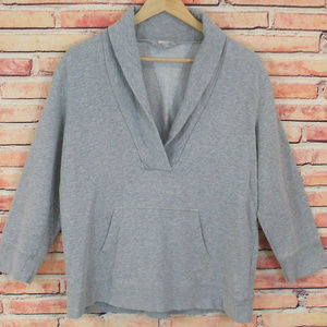 J. Crew Heather Gray Collared Sweatshirt